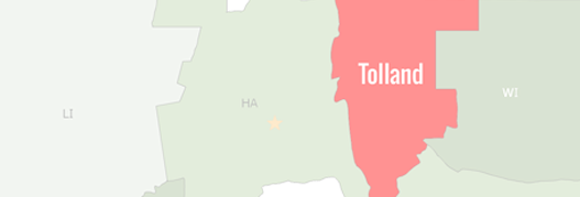Tolland County Map